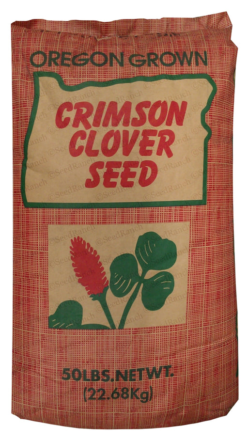 SeedRanch Crimson Clover Seed Coated - 50 Lbs.