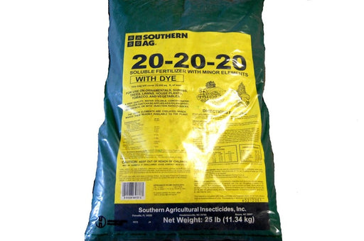 Southern Ag 20-20-20 Soluble Fertilizer with Dye - 25 Lbs.