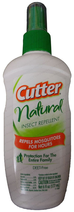 "Cutter Natural Insect Repellent ""Repels Mosquitoes"" - 6 oz."