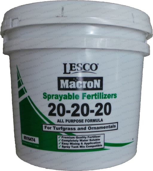 Lesco 20-20-20 Turf and Ornamentals Sprayable Fertilizer - 25 Lbs.