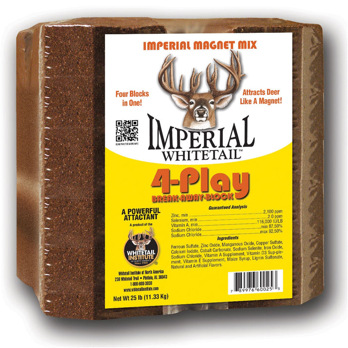 Whitetail Institute 4-Play Deer Lick Mineral Block - 25 Lbs.