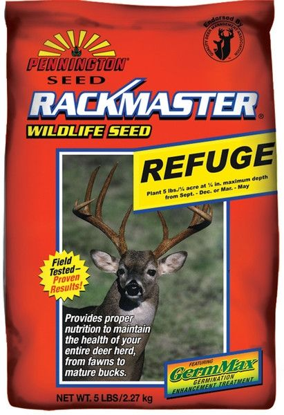 Rackmaster Refuge Clover, Brassica, Chicory Food Plot Seed Mix 5 Lbs