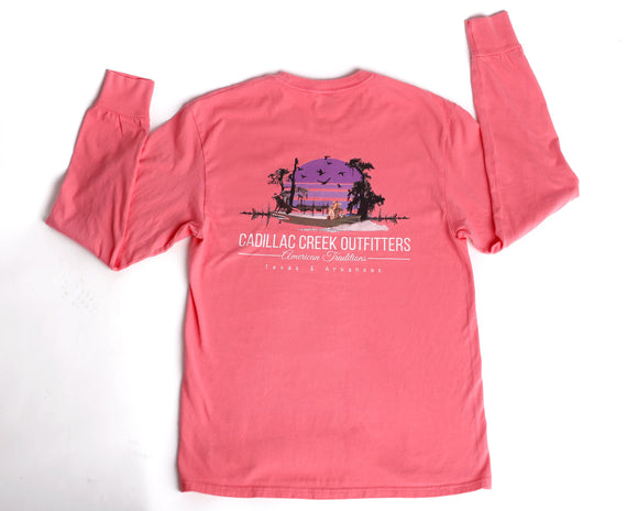 American Traditions Long Sleeve Tee - Coral - cadillaccreek.com