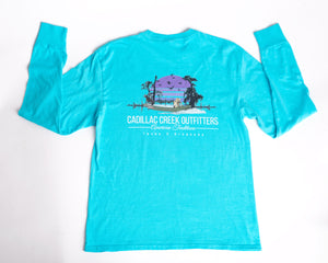 American Traditions Long Sleeve Tee - Blue - cadillaccreek.com