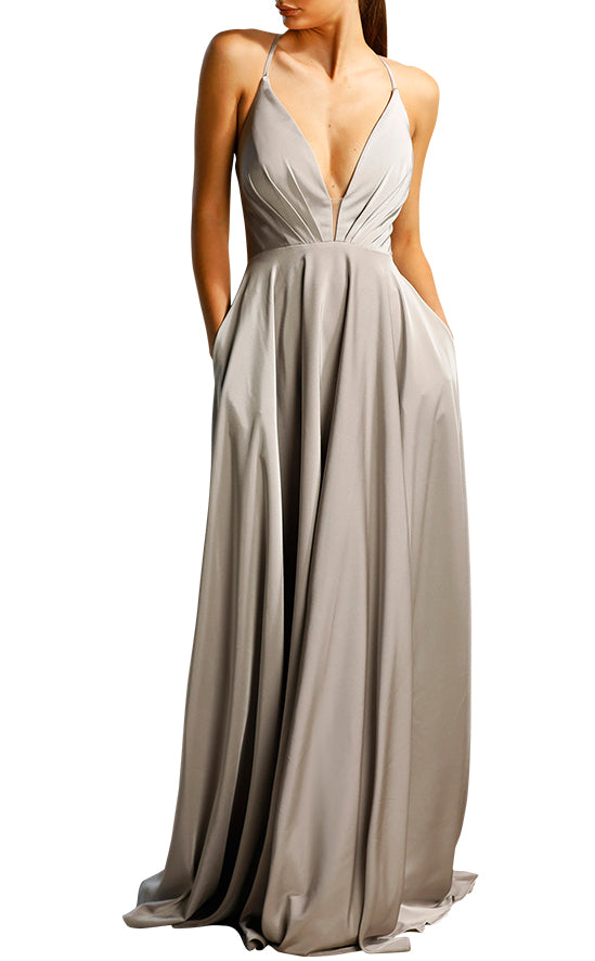 Jadore Chiara Silver Dress