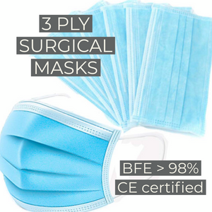 READY STOCKS 3 PLY SURGICAL MASKS