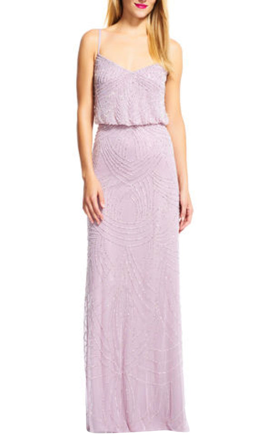 Adrianna Papell Justin Lilac Dress
