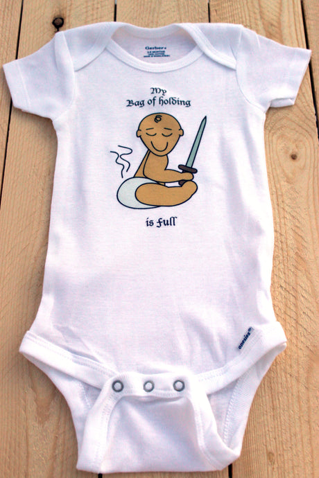 Bag of Holding Infant Onesie/ Dungeons and Dragons Baby Outfit