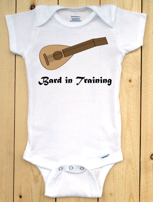 Bard in Training Infant Onesie/ Dungeons and Dragons Baby Outfit