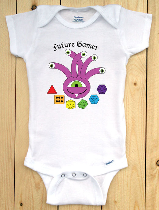 Beholder Future Gamer Infant Onesie/ Dungeons and Dragons Baby Outfit