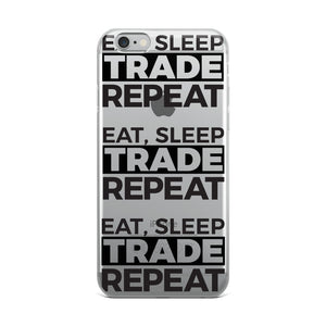 Eat, Sleep, Trade - All Over iPhone Case