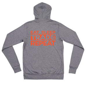 Eat, Sleep, Trade (Red) - Zip Hoodie