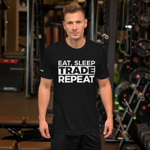 Eat, Sleep, Trade (White) - Short-Sleeve T-Shirt