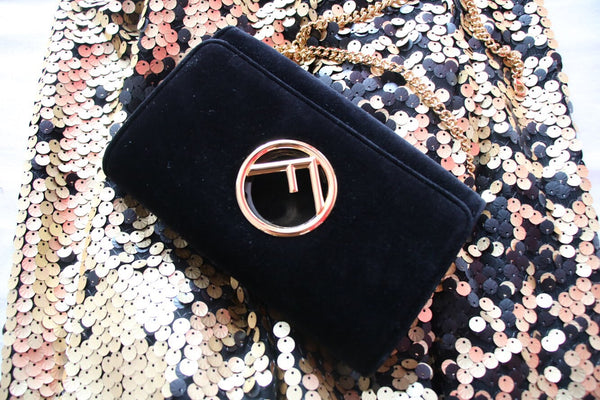 Fendi Velvet Chained Wallet