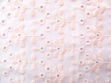 Charger l'image dans la galerie, Chouchou broderie rose clair Atelier Madeleine made in France