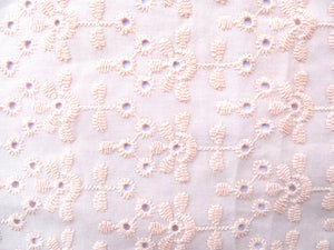 Chouchou broderie rose clair Atelier Madeleine made in France