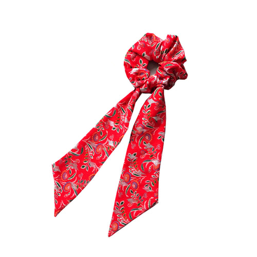 Chouchou foulard rouge Gabrielle made in France Atelier Madeleine