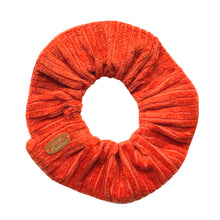Charger l'image dans la galerie, Chouchou velours côtelé Atelier Madeleine made in France coloris orange brique