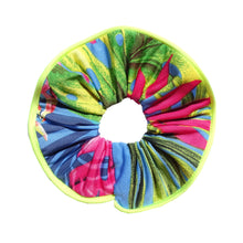 Charger l'image dans la galerie, Chouchou waterproof jaune fluo et tropical Atelier Madeleine made in France