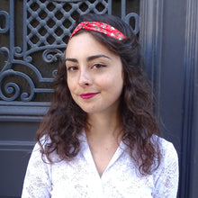 Charger l'image dans la galerie, Headband rouge Gabrielle made in France Atelier Madeleine