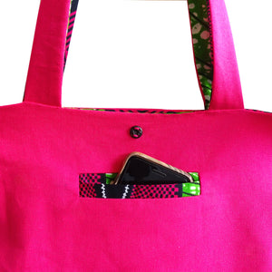 Tote bag en wax made in France Atelier Madeleine Nicoline