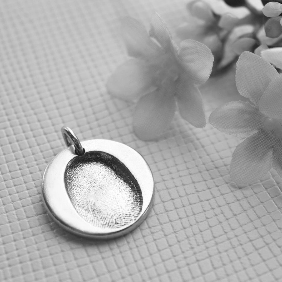 Double sided fingerprint pendant-Memory Treasures UK
