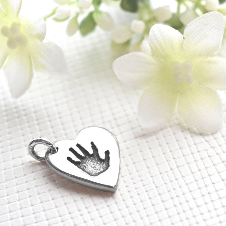 Double sided handprint or footprint charm-Memory Treasures UK