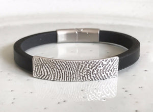 Fingerprint Cuff Bracelet-Memory Treasures UK
