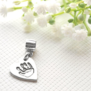Handprint or Footprint Charm on Carrier-Memory Treasures UK