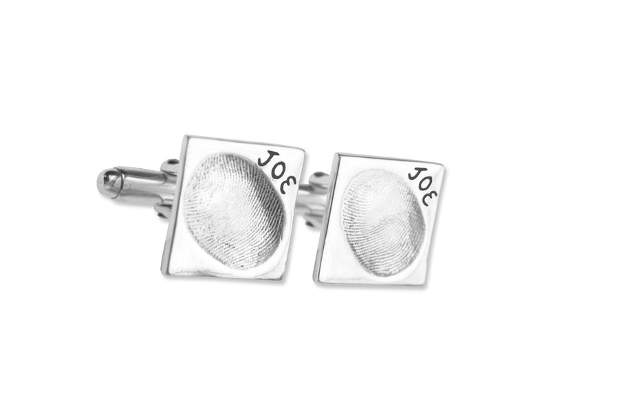Original Fingerprint cufflinks-Memory Treasures UK