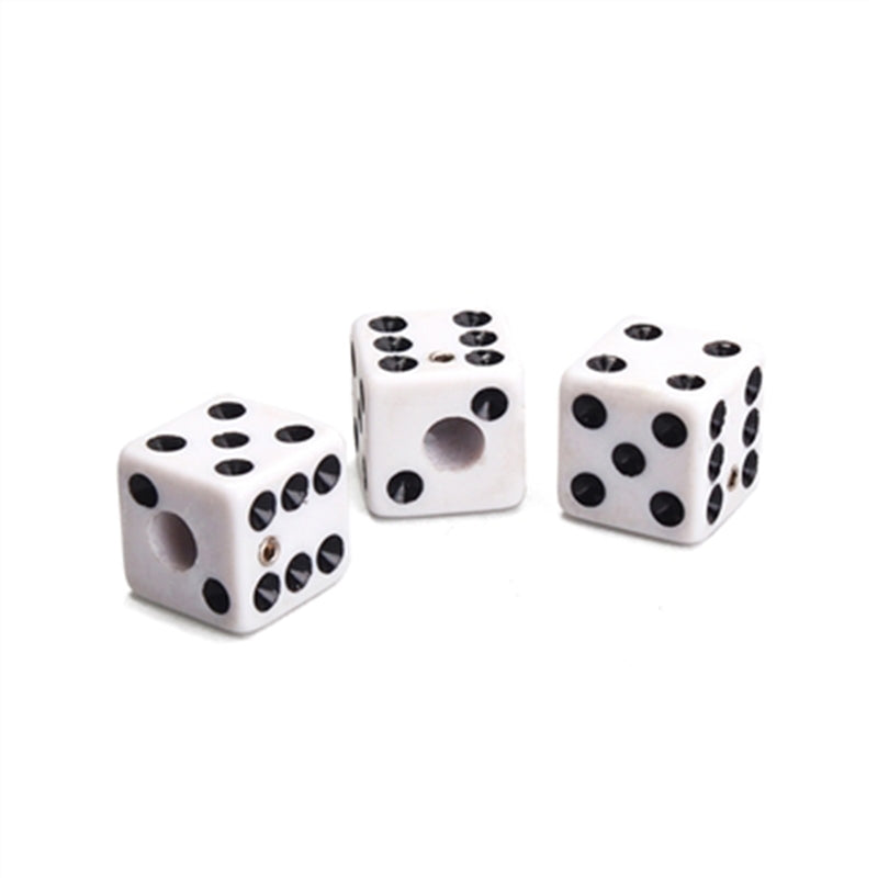 White Dice Knobs 3 Pack