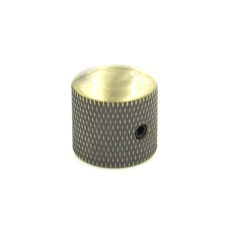 Antique Brass Finish Domed Top Knurl Knob