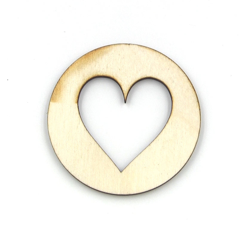 "MGB 1-1/2"" Hearts Wood Sound Hole 