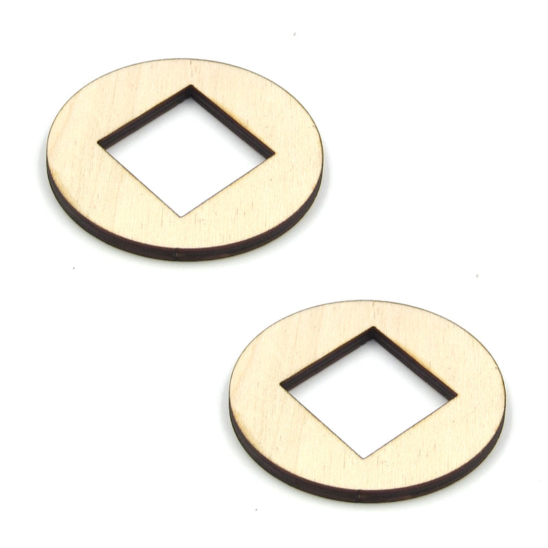 "MGB 1-1/2"" Dots Wood Sound Hole 