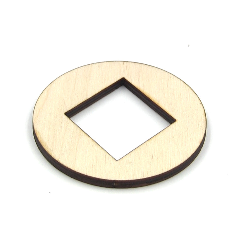 "MGB 1-1/2"" Diamonds Wood Sound Hole 