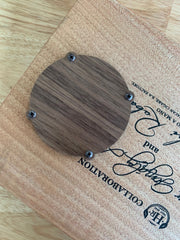 "MGB 3"" Cover Plate Finished Walnut"