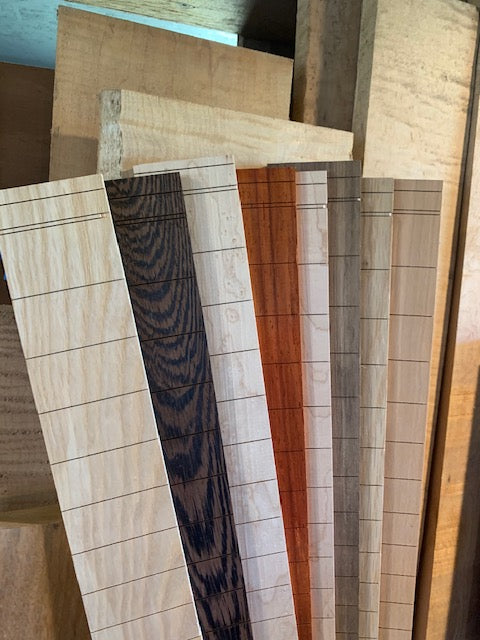 "MGB White Oak Slotted Fretboard | 25.5"" Scale"