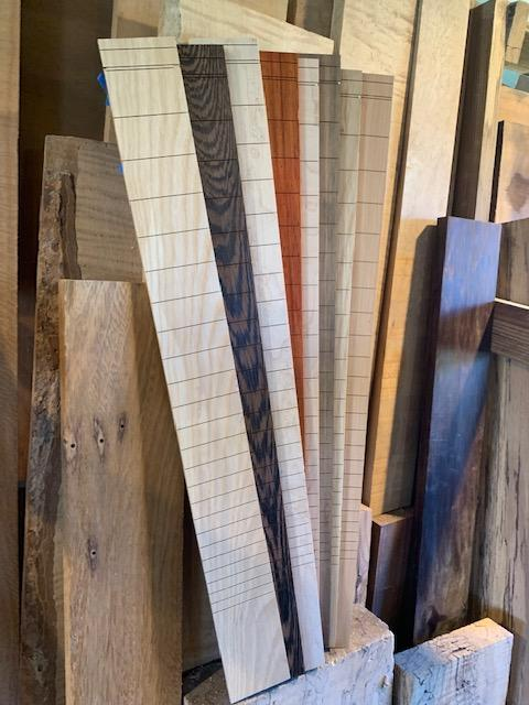 "Lacewood Slotted Fretboard | 25.5"" Scale"
