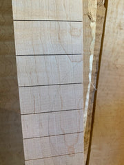 MGB Birds Curly Maple Slotted Fretboard | 25.5