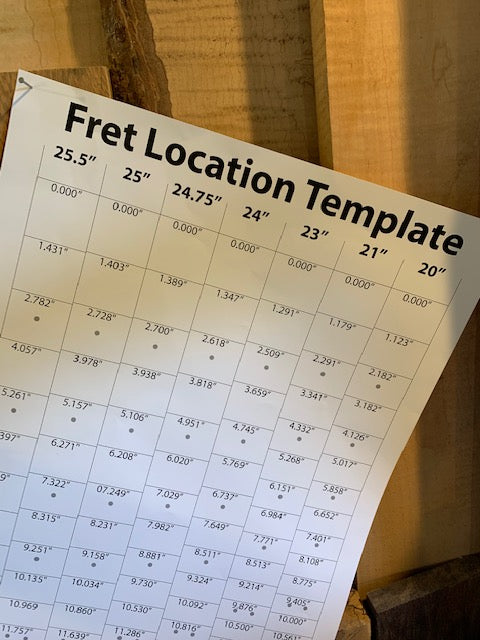 Paper Fret Location Template