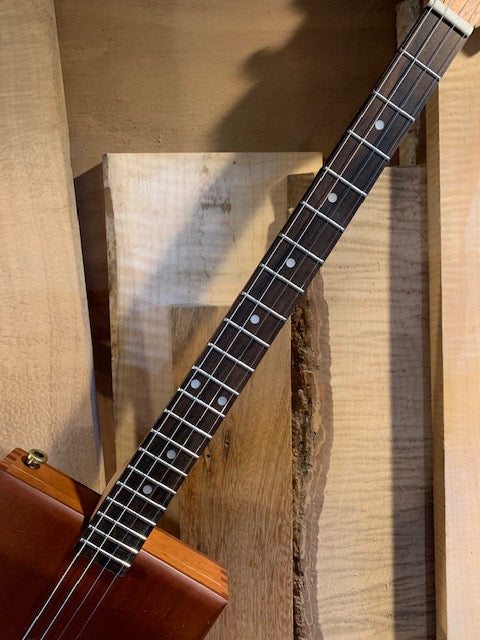 EZNeck Okume and Rosewood Fretted Neck | 24 inch Scale