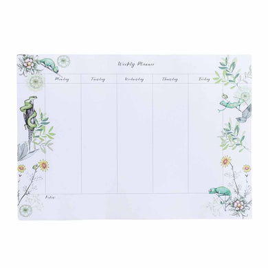 Weekly Planner A4 (210 mm x 297 mm) Desk Pad - Exclusive Chameleon Design