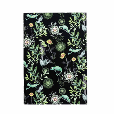 A5 Notebook (148 mm x 210 mm) - Exclusive Chameleon Design (black)