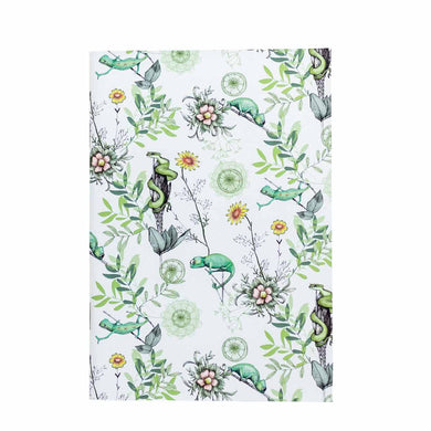 A5 Notebook (148 mm x 210 mm) - Exclusive Chameleon Design (white)