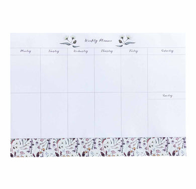 Weekly Planner - A4 (210 mm x 297 mm) Desk Pad - Exclusive Wildflower Design