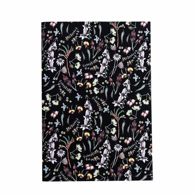 A5 Notebook (148 mm x 210 mm) - Exclusive Wildflower Design (black)