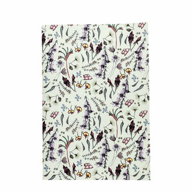 A5 Notebook (148 mm x 210 mm) - Exclusive Wildflower Design (cream)
