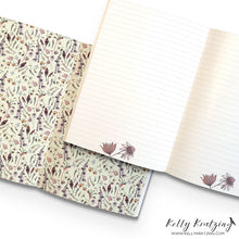 Load image into Gallery viewer, A5 Notebook (148 mm x 210 mm) - Exclusive Wildflower Design (cream)