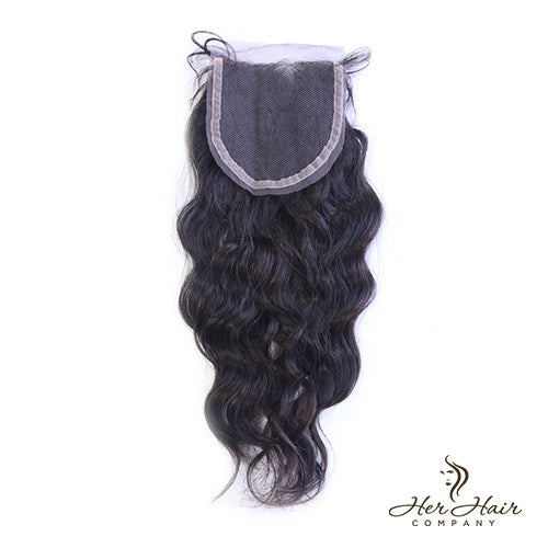 Brazilian Wavy Lace Closure 14""