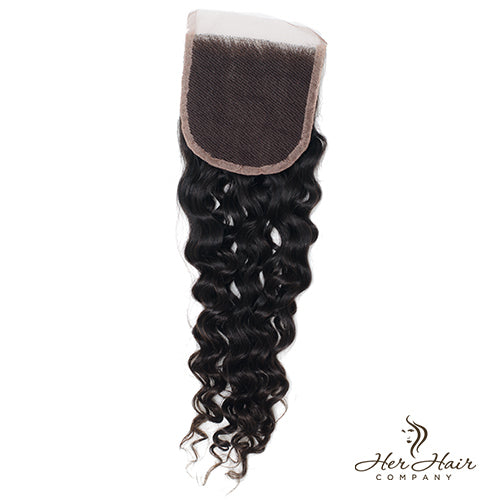 Brazilian Curly Lace Closure 14""